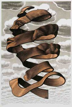 madfuture #clouds #illustration #face #ribbon