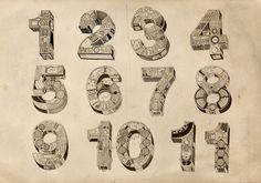 numbers... by ~JohanNordstrom on deviantART #numerals #paper #detail #typography