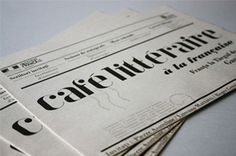cafe litteraire #newspaper #typography