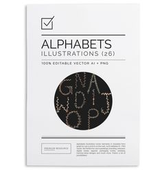 Floral Alphabets Vector Set $7.00 This beautifully decorated complete set of floral alphabets is great for use in your DIY projects,