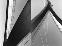 Laura Knoops—http://knoops.fr #white #shapes #black #architecture #amsterdam #bridge