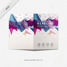 Modern business bi-fold flyer with abstract shapes Free Psd. See more inspiration related to Brochure, Flyer, Mockup, Business, Abstract, Template, Geometric, Shapes, Leaflet, Text, Flyer template, Stationery, Corporate, Mock up, Company, Modern, Booklet, Polygonal, Information, Geometric shapes, Triangles, Abstract shapes, Low poly, Up, Geometrical, Stylish, Low, Mock and Geometrical shapes on Freepik.