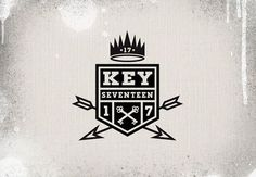 Keyseventeen Logo #type #logo #graffiti #numbers #king #arrows #crest #crown #shield #17 #keyseventeen #key seventeen #graffiti blog