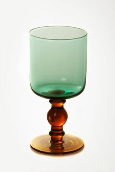 water glass #glass #goblet #cup #green