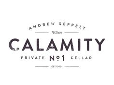 Dribbble - Calamity No.1 by CJ Rhodes #design #calamity #logo #no #typography