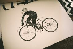 Brixton Visual Relay: John Antoski   I'm A OK #drawing #bicycle