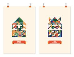 Pat Findros on the Behance Network #illustration #color #pattern #poster
