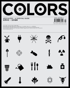 COLORS 84: Apocalypse – A Survival Guide | idnworld.com #illustration #white #magazine #black #iconography #blackwhite