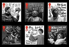 Creative Review - hat-trick design's commemorative RSC stamps #stamps #hat #trick