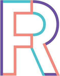 Logo des Flüchtlingsrats Berlin (Bestehend aus den Buchstaben F und R für FlüchtlingsRat) in verschiedenen Farbvariationen #logo #design #graphic #identity