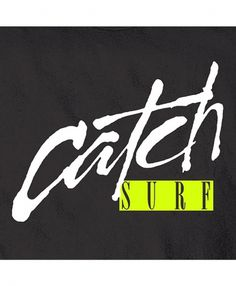 Catch Surf ® | Catch Script Tee #brush #pen and ink #catch surf tee #script