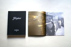 We designed a brand brochure for Friexenet's most recent promo event. Spanish cava faces stiff competition in the market from prosecco and c #family #passion #white #ink #bottle #uncoted #indigo #dividers #gold #layout #cava #brochure