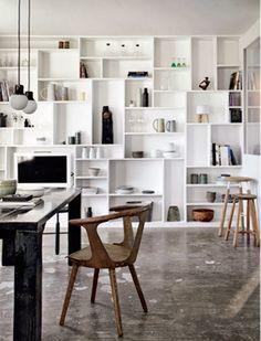 Asymmetrical shelves