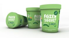 FrozenYogurt The Dieline #packaging #type #ice #cream