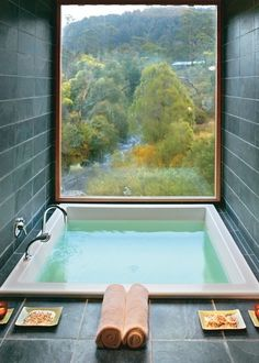 Perfection. #interior #bath #water #nature #window