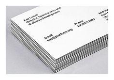 pentagram platform 3 #card #minimal #business #duplex