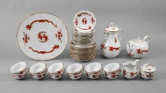 "Meissen Coffee/Tea Set ""Rich Dragon"" #porcelain"
