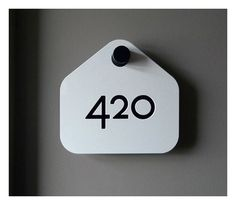 A.N.D Studio Likes | Tumblr #design #type #numerals #signage #hanger