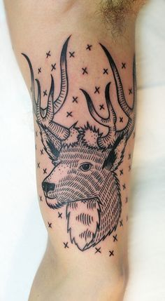 Report Comment #antlers #tattoo #deer #cerf