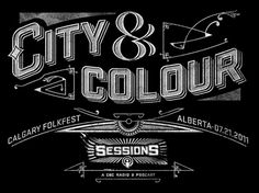Dribbble - city-and-colour-sessions.jpg by Ben Didier #typography #vintage