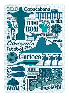 Brazil City Poster #city #design #illustration #poster #art #brazil