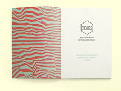 MINT Magazine // Sneaker Magazine on Editorial Design Served #pattern #editorial