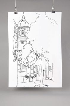 Drawing Madragoa. A popular neighborhood of Lisbon. #sketches #drawing