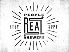 Real people real answers #mark #logo #typography
