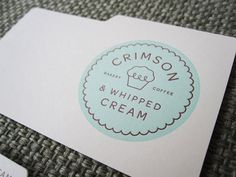 design work life » cataloging inspiration daily #bakery #foam #seal #logo #teal