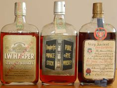 Vintage Whiskey Bottles