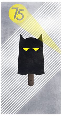 Batman 75 Anniversary on Behance #cream #batman #illustration #poster #icicle #lolly #ice