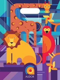 Cara1 bolsa | Flickr: Intercambio de fotos #design #graphic #geometric #illustration #colors #animals
