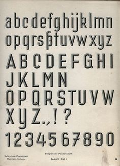 3-D Alphabet | Flickr - Photo Sharing! #chisel #lettering #1930s #typeface #manual #german