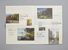 Gold foiled insiders guide for Four Seasons private residence Thirty Park Place designed by Mother