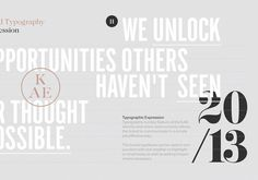 KAE — Strategic Marketing on Behance #branding #typography