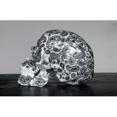 Skull Cashmire Black by NooN #skull #art