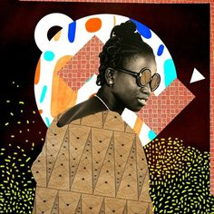 SKETCHES & THINGS by JULES TARDY #sidibe #pattern #illustration #portrait #malik #collage