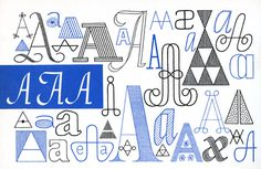 A, Embroidery Letterforms, Present and Correct