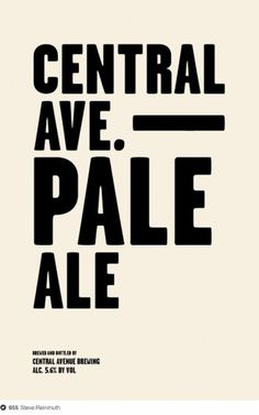 Central Avenue Brewing on Dropula - The inspirational catalogue #type #minimal #poster #typography