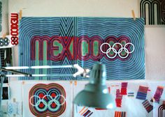 Mexico '68 Olympics #mexico #1968 #desk #olympics #colour