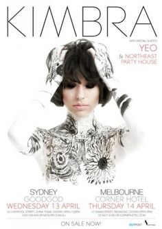 Photos from Kimbra (Kimbra) on Myspace #typography #editorial layout