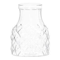 Emerson Glass Lattice Cylinder Vase, 12 cm