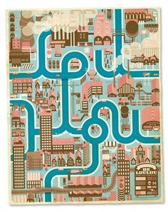 Cities, Roads & Factories on the Behance Network #cute #illustration #color #map