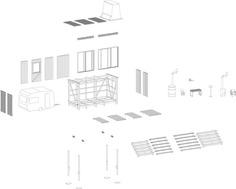 Buitenbed - Studio Makkink & Bey #bed #caravan #tinyhouse #architecture #holiday