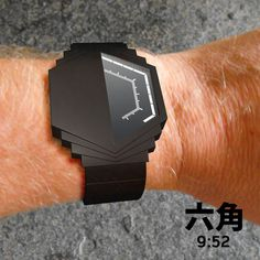 Half Watch LCD Watch #tech #amazing #modern #innovation #design #futuristic #gadget #ideas #craft #illustration #industrial #concept #art #cool