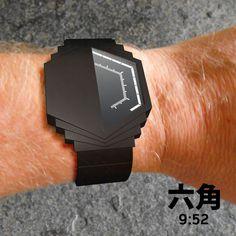 Half Watch LCD Watch #design #illustration #art #modern #industrial #futuristic #craft #tech #cool #concept #amazing #gadget
