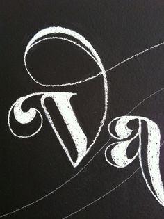 vaalbuns_chalkboard lettering_04 #illustration #lettering #chalk