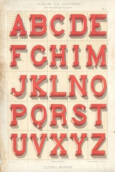 Vintage French type specimen books