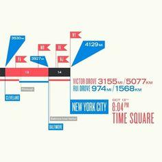 LA×NYC Map Detail / Papercut picture on VisualizeUs