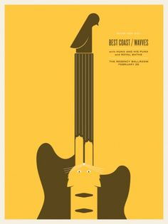 JASON MUNN - Best Coast / Wavves - Poster #munn #jason #gig #design #illustration #poster